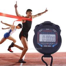 Electronic LCD Stopwatch Digital Handheld Chronograph Sports Timer Race Running