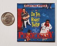 """Miniature record vinyl album  2""""  1/6 Rapper Hip Hop  Public Enemy Do the Right"""