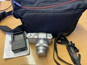 Panasonic LUMIX G DMC-GF7 White 12-32mm Lens, Battery, Charger & Neck Strap bag