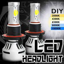 2x Cobra Tek H13 9008 White LED Cree Replacement High Low Beam Head Light Bulbs