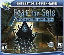 FEAR FOR SALE MYSTERY OF MCINROY MANOR!  Win XP Vista Hidden Object Adventure!