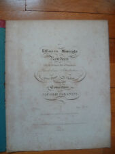 """RONDEAU de la danse des sorcières piano et violon ou violoncelle vers1825 """"RARE"""""""
