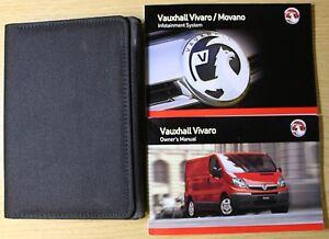 GENUINE VAUXHALL VIVARO OWNERS MANUAL NAVI HANDBOOK WALLET 2006-2014 PACK