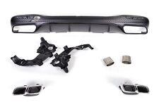 Für Mercedes-Benz GLS W166 GLS45 AMG Look Auspuff Grill Stoßstange Diffusor #850