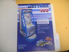 DAYTONA 400     ARCADE   GAME  FLYER
