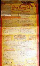 1959 DA MEO PATACCA ROME ITALY ROMA POSTER SIZED MENU FOOD CULINARY HISTORY
