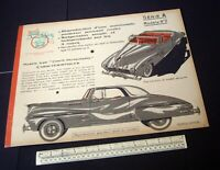 1950s Jouets Ellen French Cut-Out Model Book/Kit. Lincoln Continental-type Car.