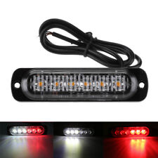 1 PC Car Motorcycle Red White LED 12v/24v Warning Emergency Flash Strobe Lights