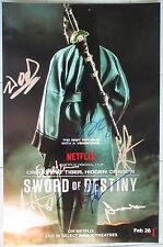 CROUCHING TIGER HIDDEN DRAGON CAST SIGNED 11x17 PHOTO DC/COA MICHELLE YEOH PROOF