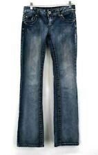 Maurices Women's 3/4 REG Low Rise Slim Flare Boot Cut Denim Jeans Medium Blue