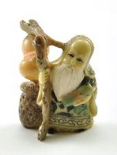 Chinese Elder Moon LOVE Marriage Deity Buddha Immortal Resin Statue Mini yue lao