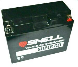 SNELL batterie moto gel SNSG-Y50-N18L-BS / 12V - 20 Ah