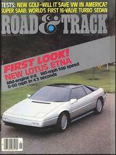 Road & Track Magazine January 1985 Lotus Etna, Saab, VW Gold, Peugeot 505 Turbo