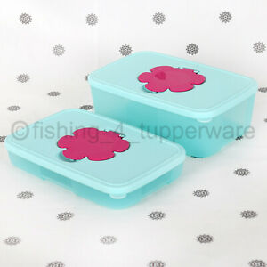 NEW Tupperware Wipes Tissue Dispenser Slimline or Large Blue and PInk