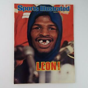 Sports Illustrated Vintage No Label Leon Spinks Boxing 02/27/1978