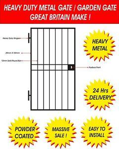 HEAVY DUTY STEEL SECURITY DOOR/GATE. METAL GARDEN SIDE GATE / WROUGHT IRON GATE