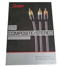 Rocketfish Component Video Audio Cable for Home Theater Video Connection 12 foot