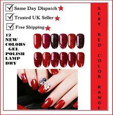 Sexy Red Global Fashions UV LED Nail Gel Polish Soak Off Base Top Color Coat