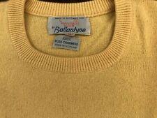 BALLANTYNE maglione uomo colore giallo, taglia 56, 100% cachemire.