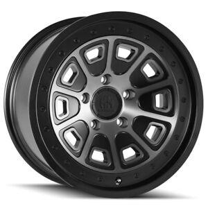 """Mayhem 8301 Flat Iron 17x9 5x5"""" -6mm Black/Machined/Tint Wheel Rim 17"""" Inch"""