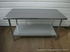 "New Stainless Steel Work Prep Table 60"" x 30"" , NSF"