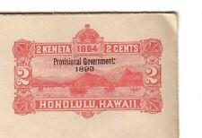 (pk7/39)    Ganzsache  Honolulu Hawai 2 CENT  2 KENETA   1884  / 1893