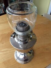 SUPER ALADIN CHROMED OIL LAMP WITH GLASS SHADE.