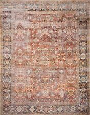 Sofia Collection 6'6''X9'6'' Rug in Spice and Marine Living Room Perfect Design