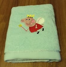EMBROIDERED  BATH TOWEL  -  FAIRY PEPPA  PIG