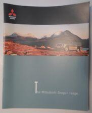 MITSUBISHI SHOGUN Range orig 1999 UK Mkt Large Format Sales Brochure - Pajero