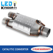 Epa Approved 2 Inlet 25 Outlet Catalytic Converter Universal Fit Oval Body