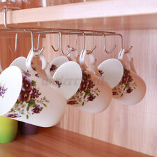 10 Hook Under Shelf Coffee Cup Mug Holder Hanger Storage Rack Cabinet Kitchen