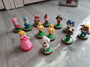 Nintendo Amiibo Figuren 10 Stück Animal Crossing + Peach