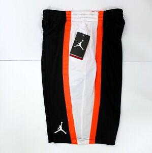 NIKE Boys' Jordan Jumpman Basketball Athletic Shorts White Black Coral Size L