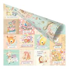 """Prima Heaven Sent 2 - FIRST EVERYTHING 12x12"""" D/sided Foiled Scrapbooking Paper"""