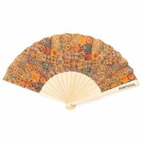 Cork hand fan Traditional portuguese parrten folding fan L-024-E