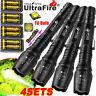 Tactical 350000Lumens 5Modes T6 LED 18650 Flashlight Zoom Aluminum Torch Lot USA