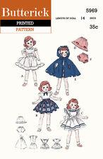Vintage Butterick 5969 -  for 14 inch dolls such as Toni, Miss Revlon, etc