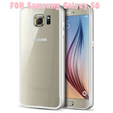 Aluminium Luxus Bumper silber Back Cover 2 teilig Samsung Galaxy S6