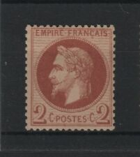 """FRANCE STAMP TIMBRE YVERT N° 26 """" NAPOLEON III 2c ROUGE-BRUN """" NEUF TTB T114"""