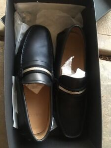 Bally mens casual leather slip on shoes