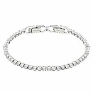 Swarovski Damenarmband Emily Armband Rhodiniertes mit Strahlenden Weißen Kristal