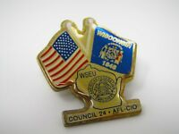 Vintage Collectible Pin: WSEU Council 24 AFL-CIO Wisconsin American Federation