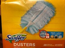 NEW IN BOX SWIFFER DUSTER REFILLS + HANDLE BIG 28 COUNT FREE SHIPPING
