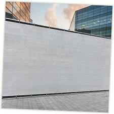 Grey Fence Privacy Screen Windscreen Cover Fabric Shade Tarp 5' x 50' 1
