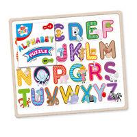 Kids Create Slim Wooden Alphabet Animal Puzzle Board Pre-School Kids Toy Game 3+