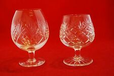 Two Crystal Glass BRANDY BALLOONS