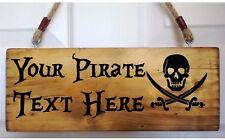 Personnalisé Pirate Signe Crâne Crossbones plaque plaque Caraïbes Jack Sparrow