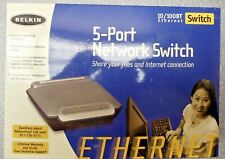 Belkin F5D5131-5 5-Port Network Switch 10/100BT Ethernet PC/ MAC New