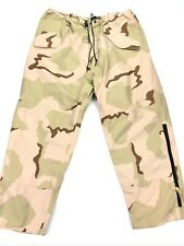 NEW US Army Gore-Tex Seam Waterproof Desert Camo Pants Ankle Zip • Size XL